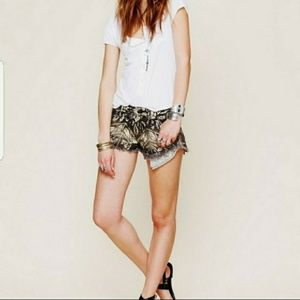 Free people tribal print distressed shorts